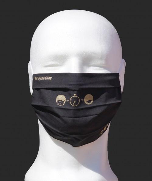 Schutzmaske Schwarz Time