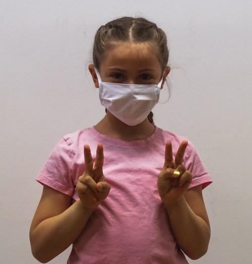 Kinderschutzmaske weiß